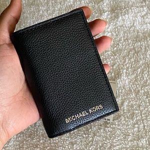 NWT Michael Kors Cooper Leather Trifold ID Wallet
